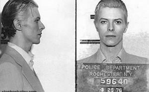 David Bowie's 1976 Mugshot
