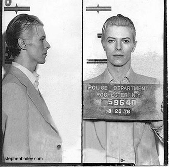David Bowie's 1976 NY Mugshot