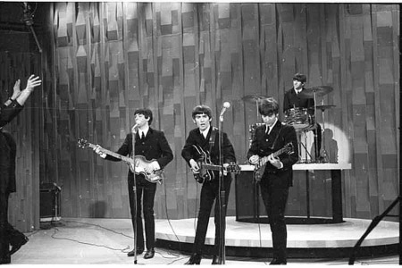 Lot 40 The Beatles Performing On Ed Sullivan Show Circa 1964 Photo Was Taken During Dress Rehearsal For February 9